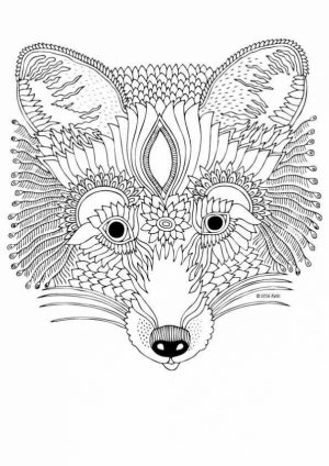 Fox Coloring Pages for Adults Printable   7an3m