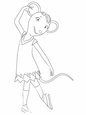 Free Angelina Ballerina Coloring Pages   787909