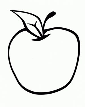Free Apple Coloring Pages   9tf1q