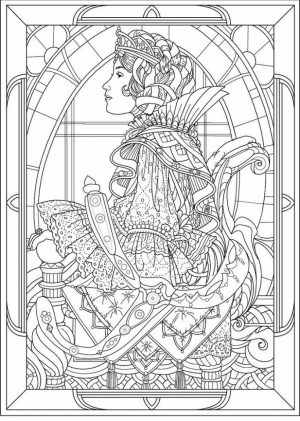 Free Art Deco Patterns Coloring Pages for Adults   446732