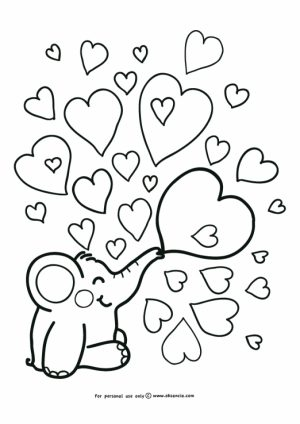Free Baby Elephant Coloring Pages for Preschoolers   67932