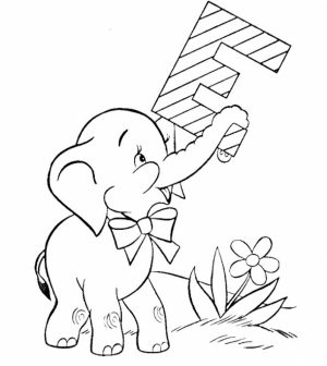 Free Baby Elephant Coloring Pages for Preschoolers   96316