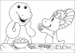 Free Barney Coloring Pages to Print for Kids   43789
