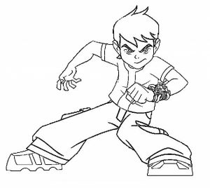 Free Ben 10 Coloring Pages   2srxq