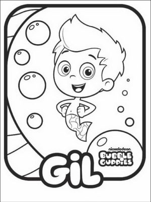 Free Bubble Guppies Coloring Pages   492357