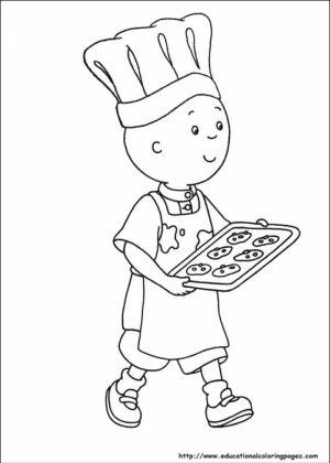 Free Caillou Coloring Pages   t29m27