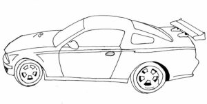 Free Car Coloring Page to Print   01276