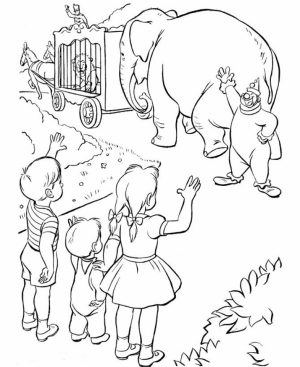 Free Circus Coloring Pages to Print   12490