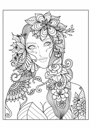 Free Complex Coloring Pages to Print for Adults   SZ64B