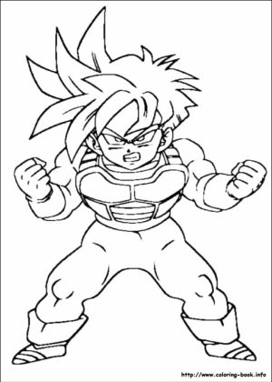 Free DBZ Coloring Pages   25762