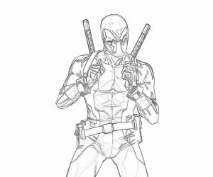 Free Deadpool Coloring Pages   492360