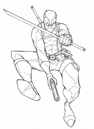 Free Deadpool Coloring Pages   5709