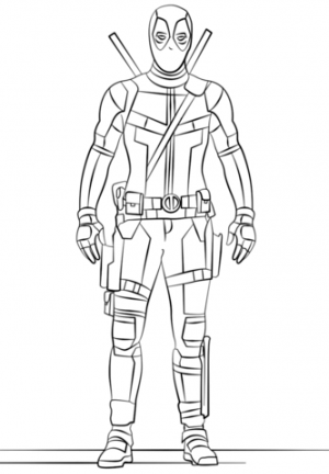 Free Deadpool Coloring Pages to Print   754984