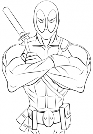 Free Deadpool Coloring Pages to Print   920512