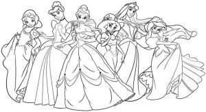 Free Disney Princess Coloring Pages   119157