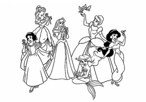 Free Disney Princess Coloring Pages   623679