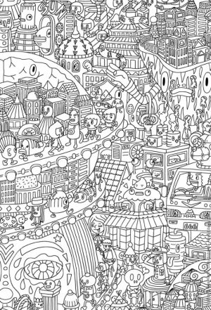 Free Doodle Art Coloring Pages for Adults   cfw43