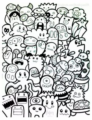 Free Doodle Art Coloring Pages for Adults   GTC61