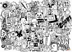 Free Doodle Art Coloring Pages for Adults   PL75X