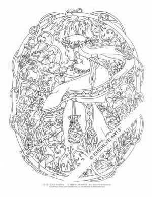 Free Elf Coloring Pages for Adults   97421