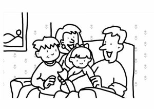 Free Family Coloring Pages for Kids   yy6l0