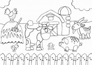 Free Farm Coloring Pages   F5W4W