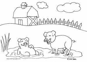 Free Farm Coloring Pages   N1TDN