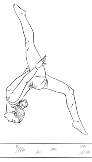 Free Gymnastics Coloring Pages   72ii8