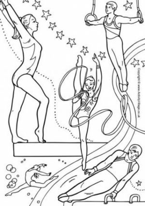 Free Gymnastics Coloring Pages   9tf1q