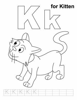 Free Kitten Coloring Pages to Print Out   4vx61