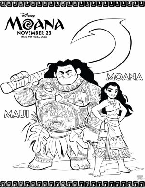 Free Moana Coloring Pages to Print   62CF0
