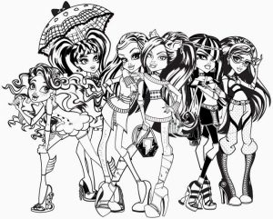 Free Monster High Coloring Pages   492370
