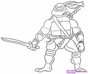 Free Ninja Turtle Coloring Page   16377