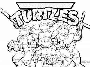 Free Ninja Turtle Coloring Page to Print   01276