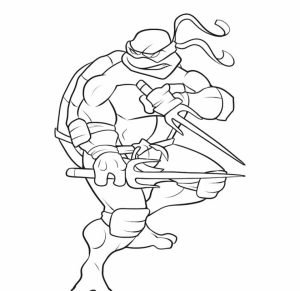 Free Ninja Turtle Coloring Page to Print   76049