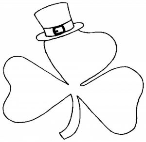 Free Picture of Shamrock Coloring Pages   prmlr