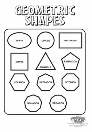 Free Picture of Shapes Coloring Pages   prmlr