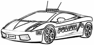 Free Police Car Coloring Pages   39747
