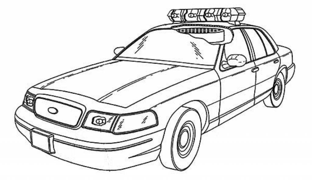 This is a photo of Delicate printable coloring pages of police cars