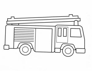 Free Preschool Fire Truck Coloring Page to Print   94524