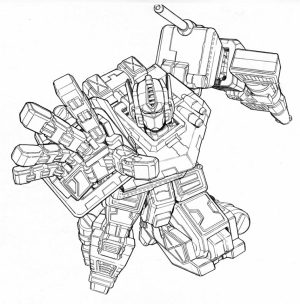 Free Preschool Optimus Prime Coloring Page to Print   p1ivq