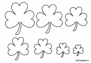 Free Preschool Shamrock Coloring Pages to Print   p1ivq