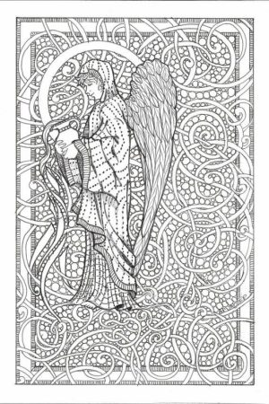 Free Printable Angel Coloring Pages for Adults   PMB541