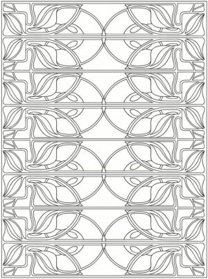 Free Printable Art Deco Patterns Coloring Pages for Grown Ups   642biku