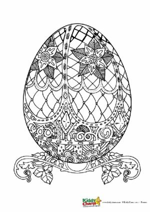 Free Printable Easter Egg Coloring Pages for Adults   57603