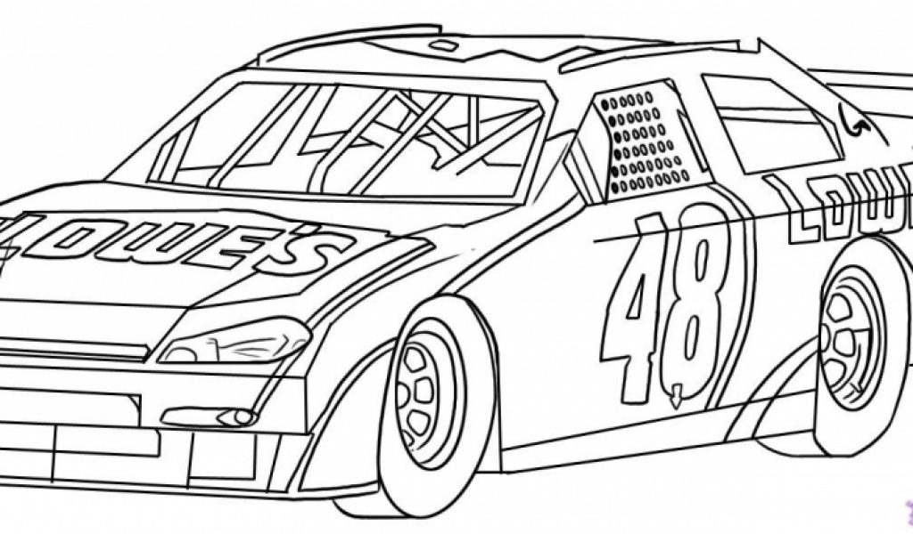 Free Nascar Coloring Pages The Sports Fan Sketch Coloring Page