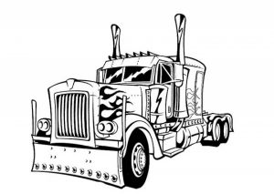 Free Printable Optimus Prime Coloring Page for Kids   5gzkd
