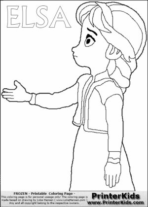 Free Printable Queen Elsa Coloring Pages Disney Frozen   5CBE0