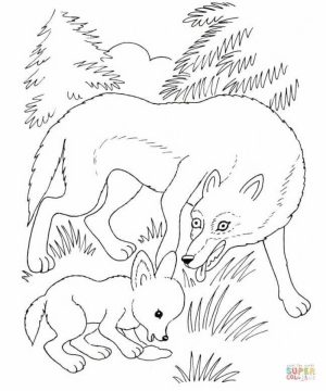 Free Printable Wolf Coloring Pages   76421