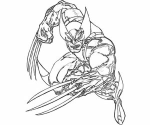 Free Printable Wolverine Coloring Pages for Kids   I86Om